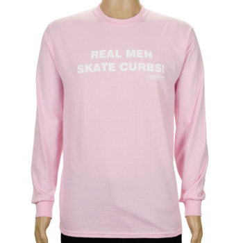 Lovenskate Real Men Skate Curbs Long Sleeve T-Shirt
