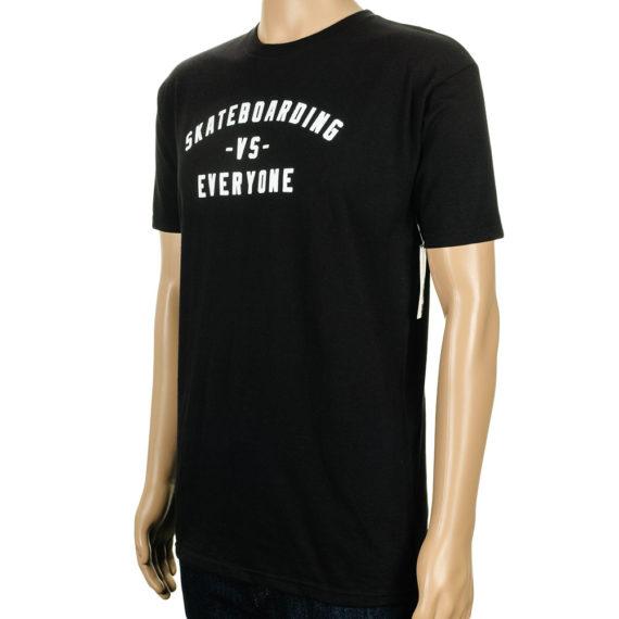 Real Skateboarding Vs Everyone T-Shirt Black