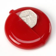 Spitfire Classic Round Coin Pouch Red