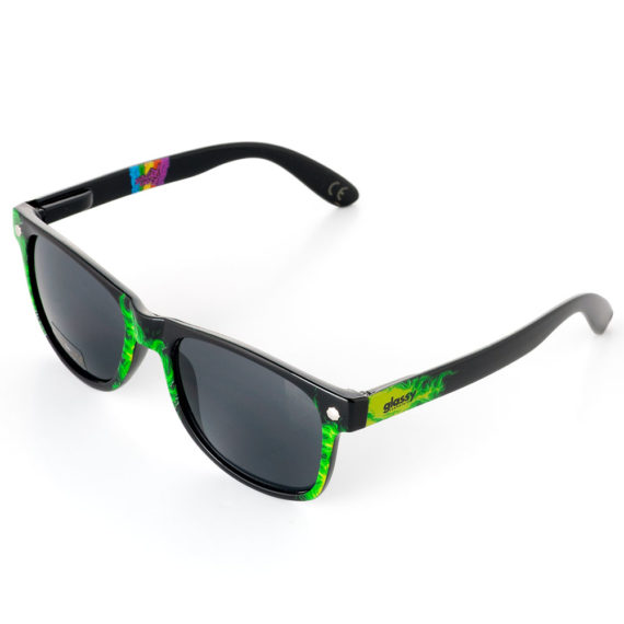Glassy Sunhaters Reyes Sunglasses Green Tie Dye