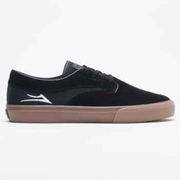 Lakai Riley Hawk Shoe Black Gum Suede