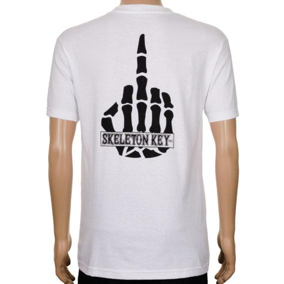 Skeleton Key Middle Finger T-Shirt White