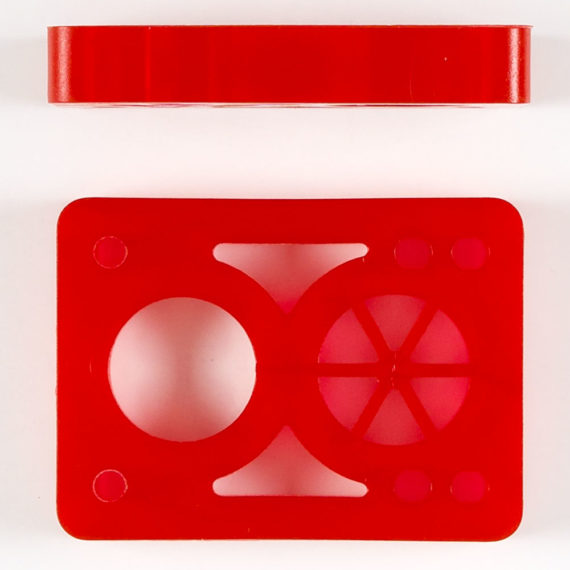 D Street Risers Clear Red 1/2″