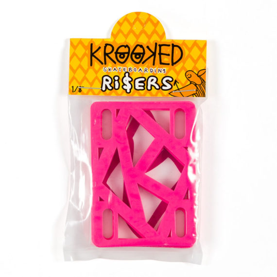 Krooked Risers Hot Pink 1/4″