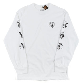 Passport Plug In Long Sleeve T-Shirt Whit
