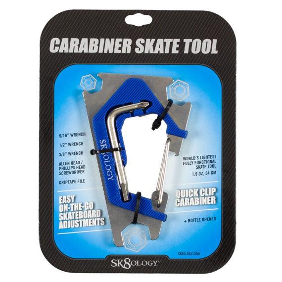 Sk8ology Skateboard Carabiner Tool 2.0 Blue
