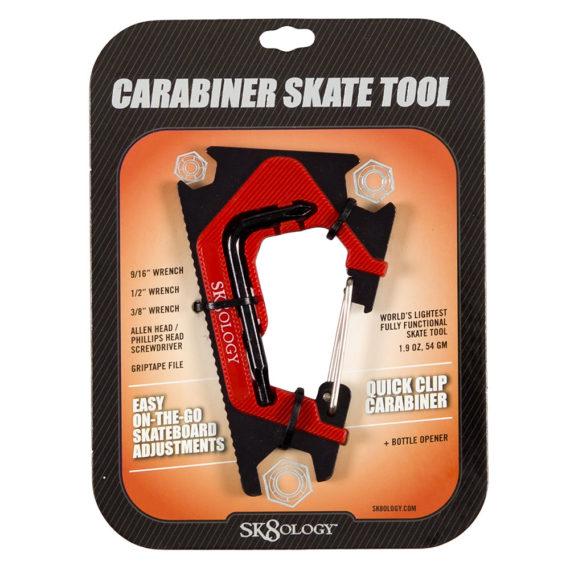 Sk8ology Skateboard Carabiner Tool 2.0 Red