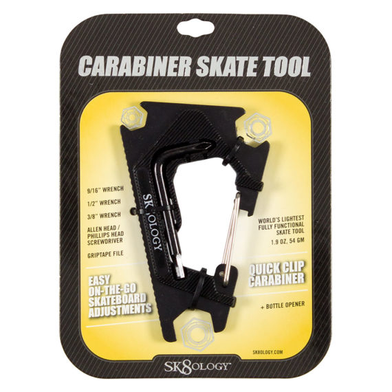 Sk8ology Skateboard Carabiner Tool 2.0 Black