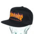 Thrasher Flame Logo Structured Snapback Hat Black