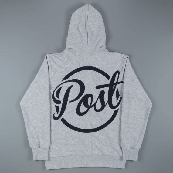 Post Details Circle Logo Half Zip Hoodie