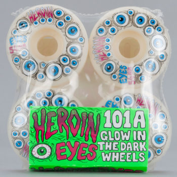 Heroin Skateboards Eyes Wheels 54mm Glow in the Dark