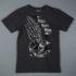 Santa Cruz Pray Skeleton T-Shirt Charcoaluz Tattoo Hand T-Shirt Charcoal