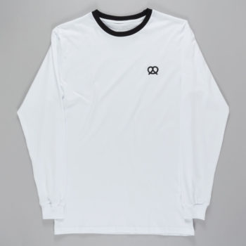 Skateboard Cafe Pretzel Long Sleeve T-shirt White