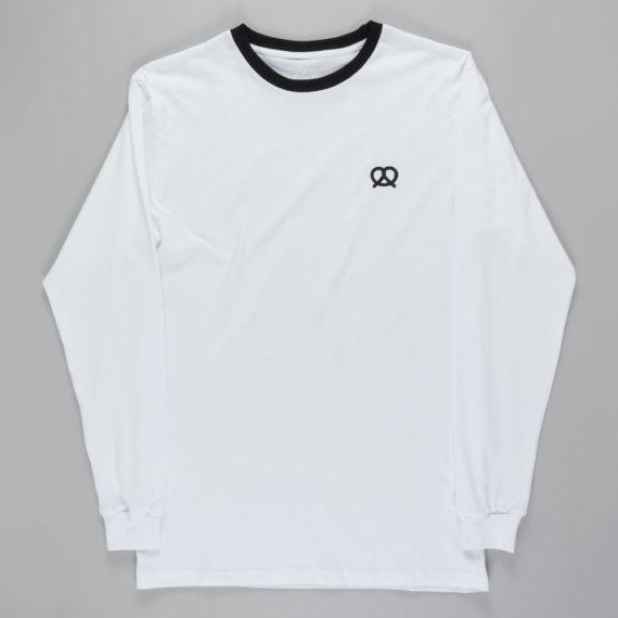 Skateboard Cafe Pretzel Long Sleeve T-shirt White