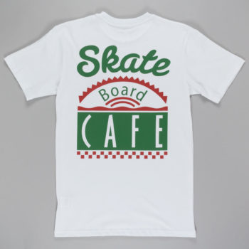 Skateboard Cafe Dinner T-shirt White