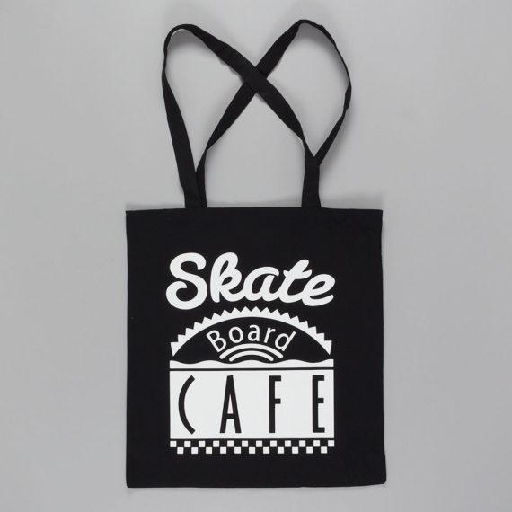 Skateboard Cafe Dinner Tote Bag Black