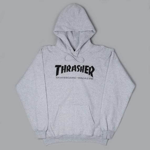 Thrasher Magazine Logo Hoodie Grey