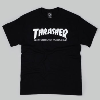 Thrasher Magazine Logo T-Shirt Black White