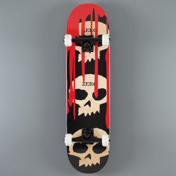 "Zero Skateboards 3 Skulls Complete 7.875"""