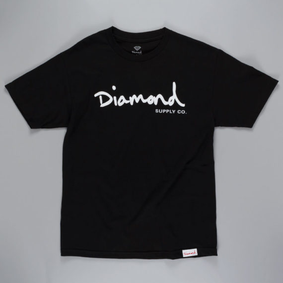 Diamond OG Script T-Shirt Black