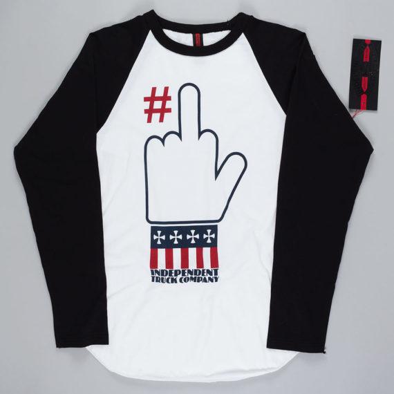 Independent Number 1 Raglan T-Shirt White