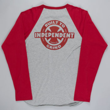 Independent Built To Grind Raglan T-Shirt Grey