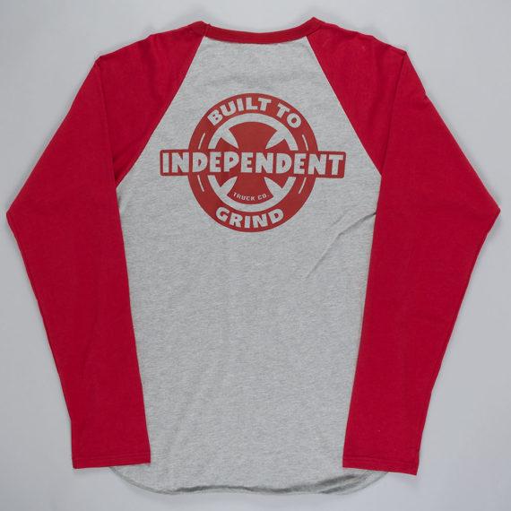 Independent Built To Grind Raglan T-Shirt Grey