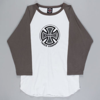 Independent Truck Co Raglan T-Shirt White Grey