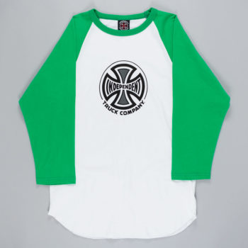 Independent Truck Co Raglan T-Shirt White Green