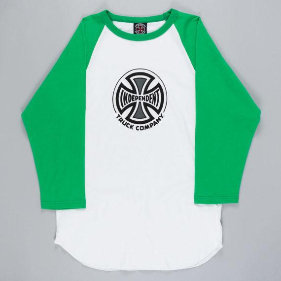 Independent Truck Co Raglan T-Shirt White Green