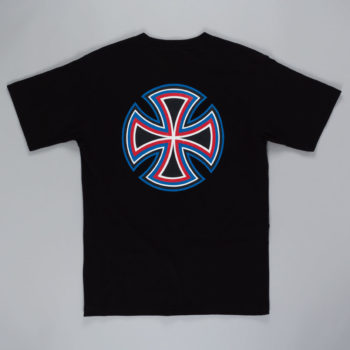 Independent Future Bar Cross T-Shirt Black Blue