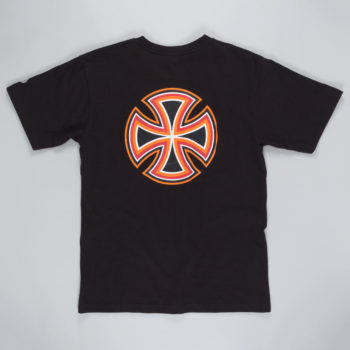 Independent Future Bar Cross T-Shirt Black Orange