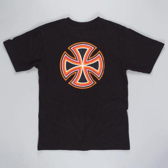 Independent Future Bar Cross T-Shirt Black Orange