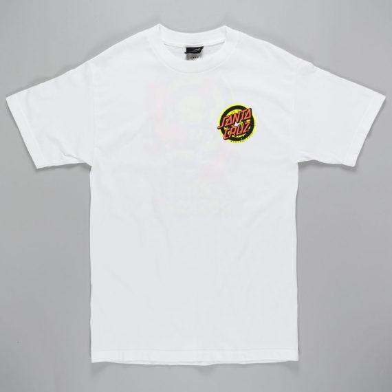 Santa Cruz Rob 3 T-Shirt White Neon