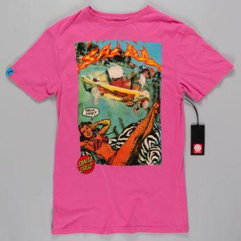 Santa Cruz Hello Steve T-Shirt Pink