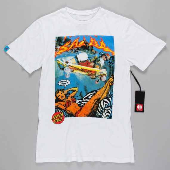 Santa Cruz Hello Steve T-Shirt White