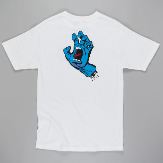 Santa Cruz Screaming Hand Back Print T-Shirt White