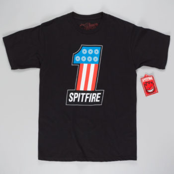 Spitfire Wheels T-Shirt #1 Black