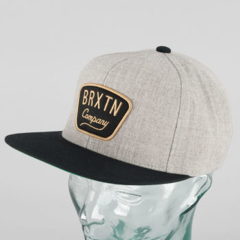 Brixton Gaston Snapback Cap Heather Grey Black