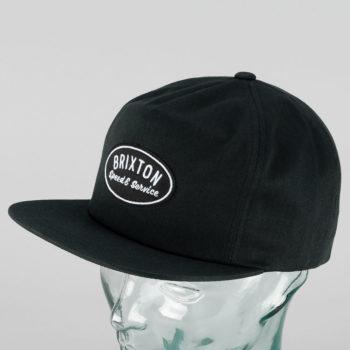 Brixton Mags Snapback Cap Black