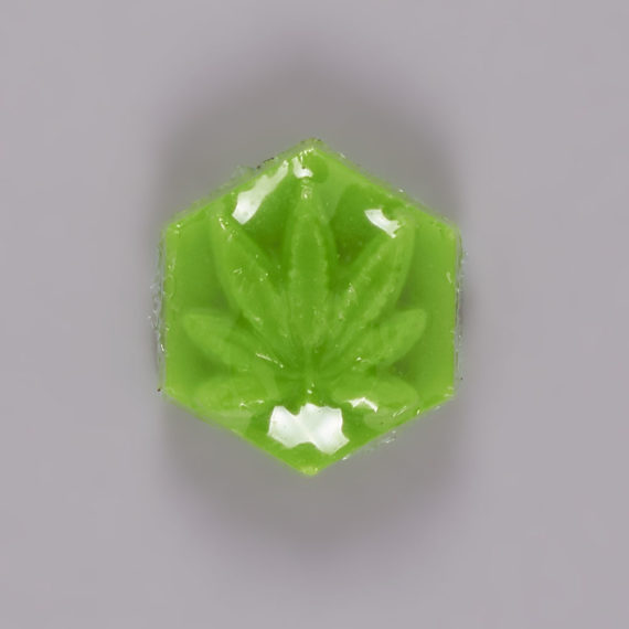 Ganj Wax Small Fluorescent Green Skateboard Wax
