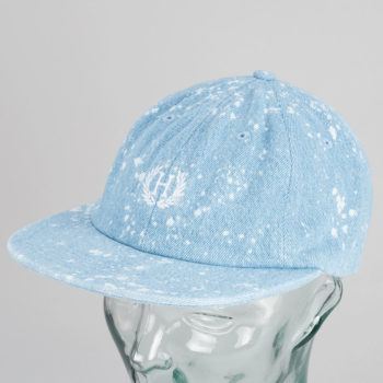 Huf Crest Strap back Hat Bleached Denim