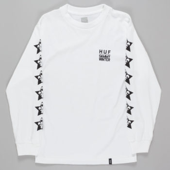 Huf x Cliche Sammy Winter Long Sleeve T-Shirt White