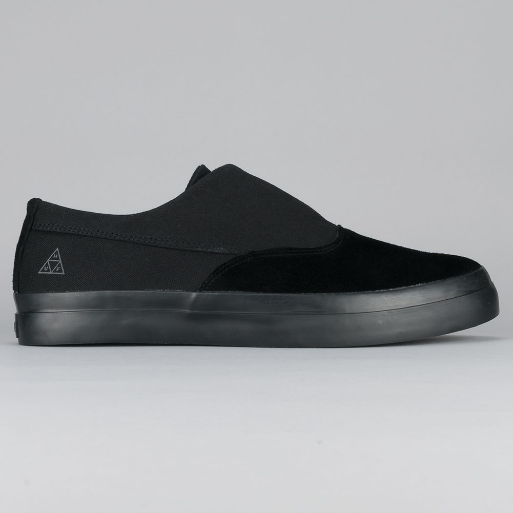 Buy Huf Dylan Slip On Shoes Black Black Available at Skate ...