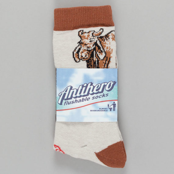 Anti Hero Sock Cow Socks Brown