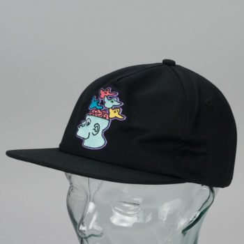 Krooked Brain On Birds Snapback Hat Black