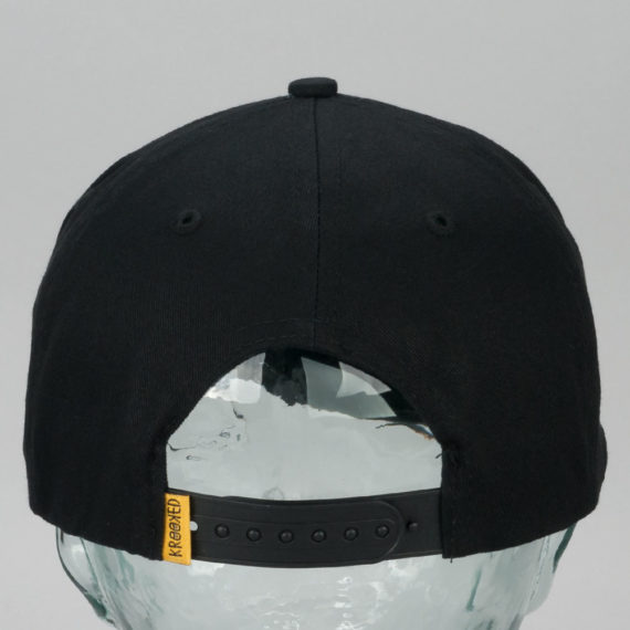 Krooked Brain On Birds Snapback Hat Black