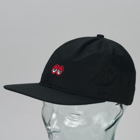 Krooked Skateboards Eyes Snapback Hat Black
