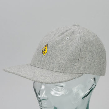 Krooked Skateboards Shmolo Snapback Hat Heather Grey