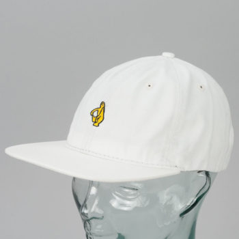Krooked Skateboards Shmolo Snapback Hat Off White
